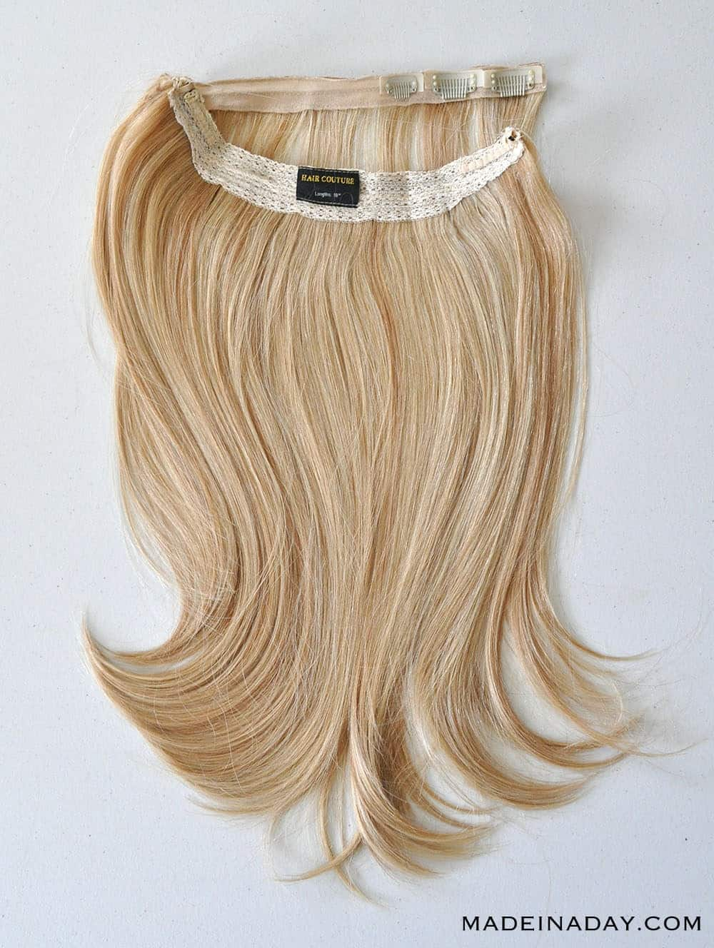 """HAIR COUTURE SMART HAIR 18"""" HALO IN CARAMEL BLONDE, adding volume to thin hair with a halo"""