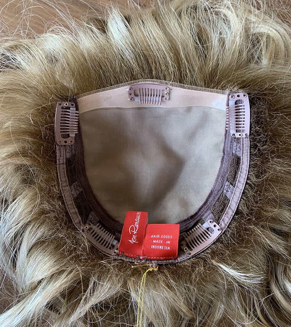 Jon Renau Top Wave Topper base, monofilament hairpiece base, lace front hairpiece.