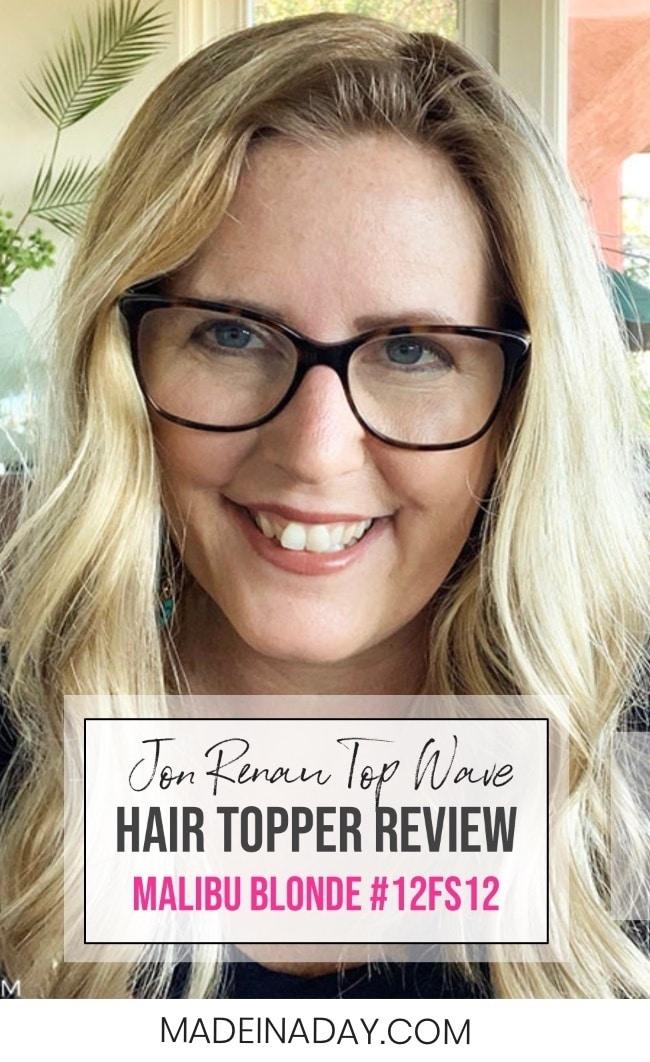 """Topper Review: Jon Renau Top Wave 18"""" Color: Malibu Blonde"""