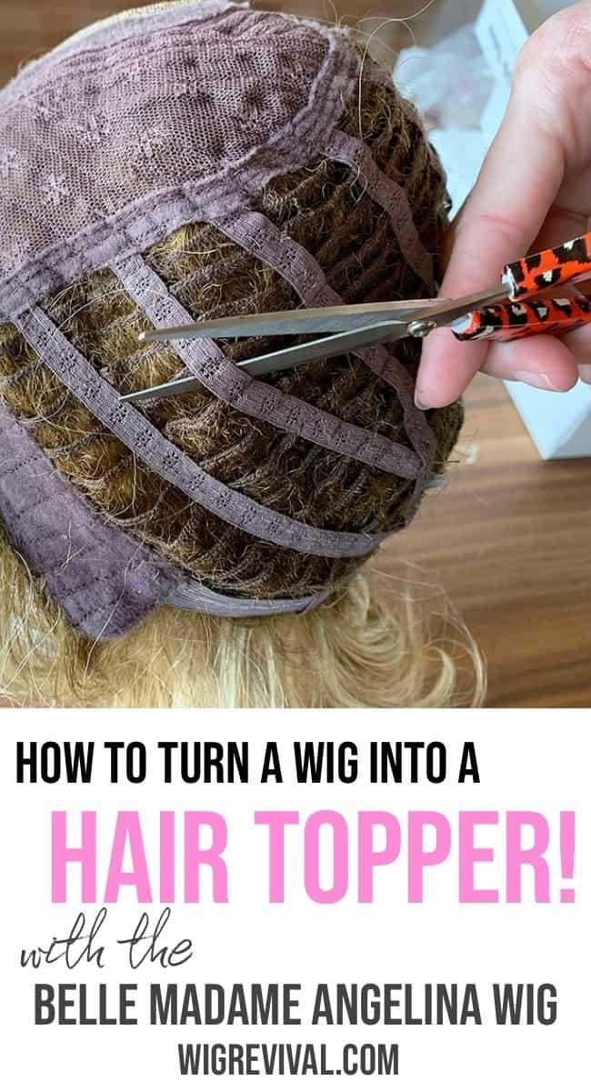 Cut down a wig into a hair topper, cut down a wig,