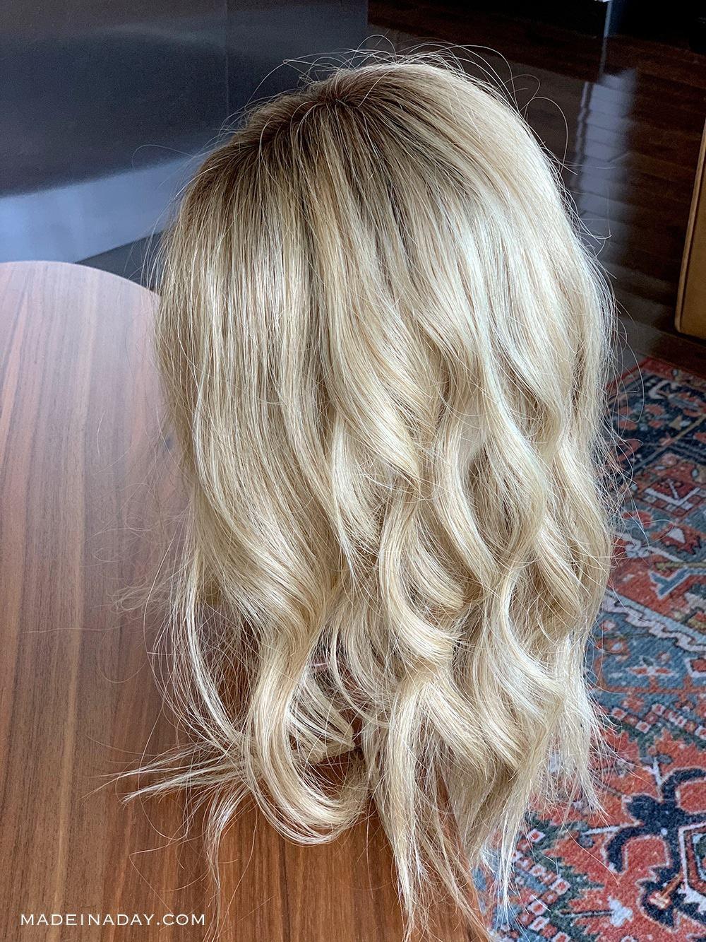 Beach Wave top Smart Human Hair Topper Review, Venice Blonde 22F16S8 Jon Renau