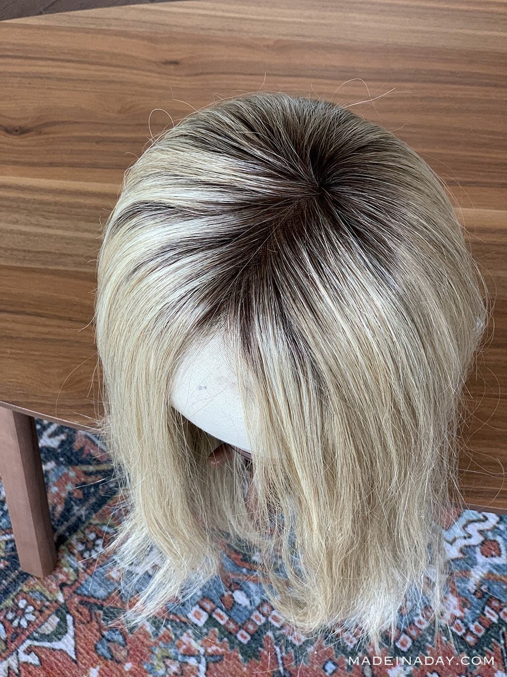 Rooted Venice Blonde California Blondes Jon Renau, Top Smart Topper 18 inch