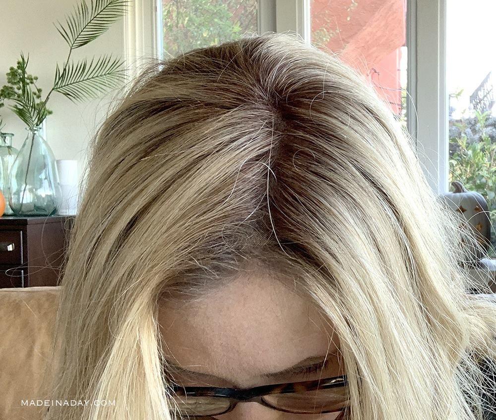 Human Hair Top Smart 18 inch part view