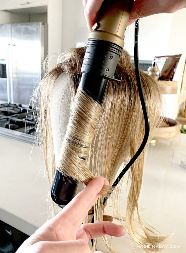 How to curl a wig with a curling wand, Curl heat defiant hair, How to make beach waves on a wig, recurl a wig