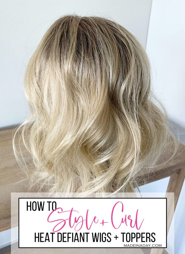 How to curl styling heat defiant hair topper