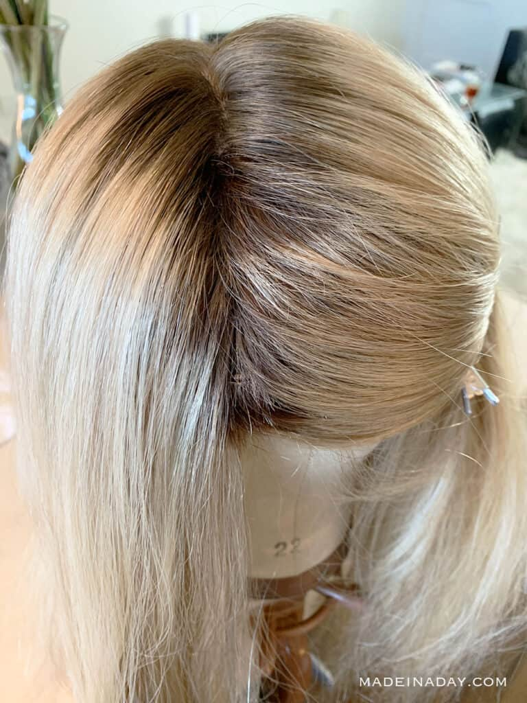 adding length to a hair topper, adding wefts to a hair topper, ad wefts to a topper for thickness, add wefts to a hair topper for highlights, fix hair topper by adding wefts