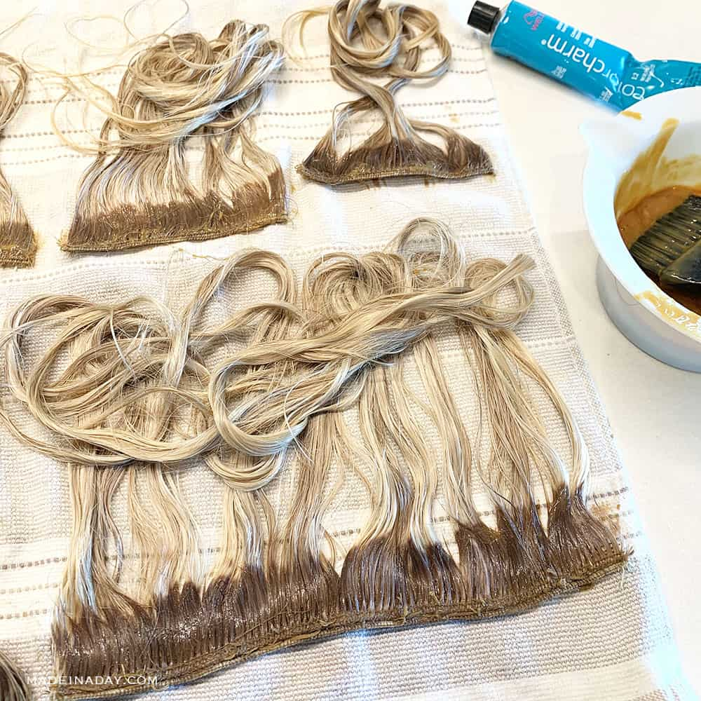 How to color hair wefts, how to color blonde hair back to brown, how to properly color blonde hair brown,