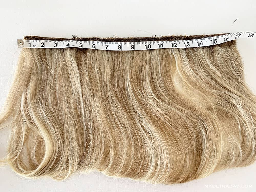 blonde Brazilian hair extensions, hair wefts to add to a hat