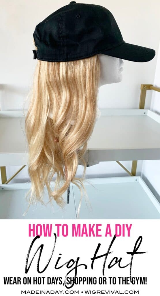 DIYWig hat, hat wig, hair hat, how to make a wig hat