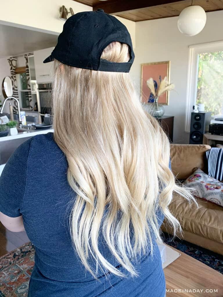 Brazilian Blonde hat wig, Wig hat