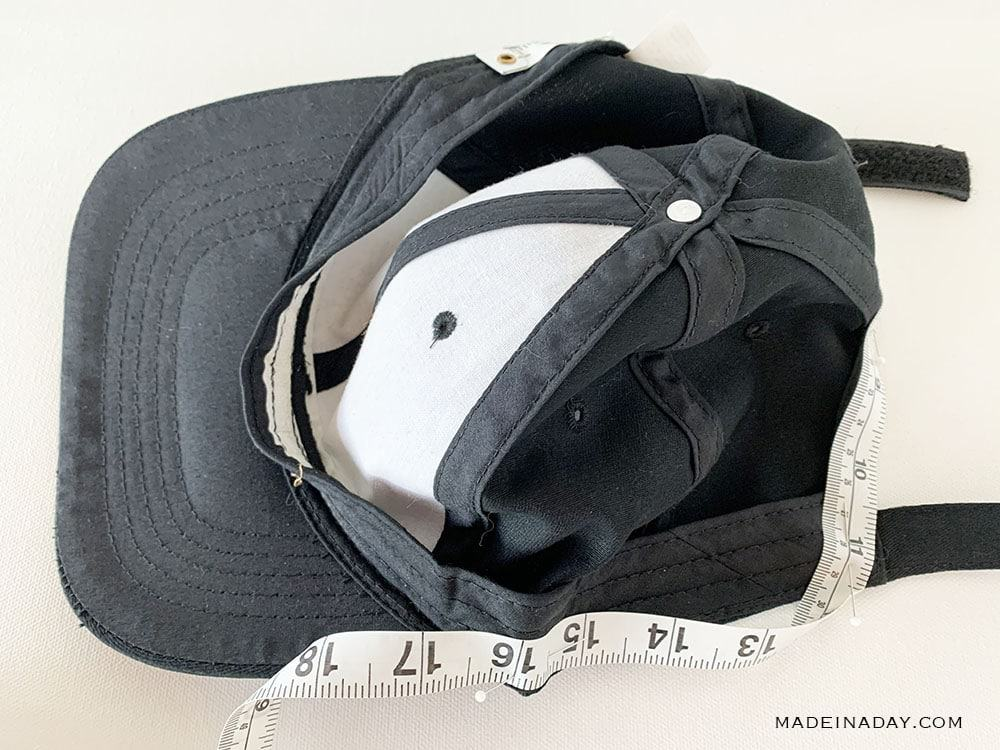 Measure a hat to add hair wefts, hair hat