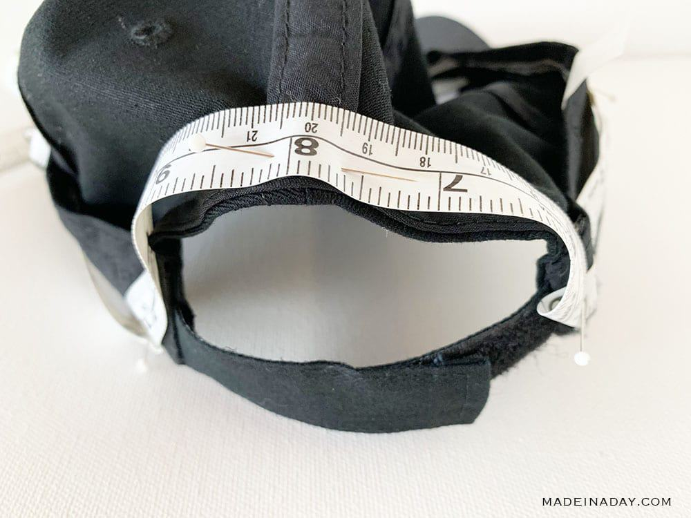 Measure a hat to make a hat wig