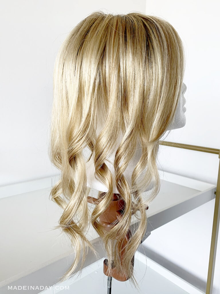 How to Curl Synthetic Hair Safely, blonde wig beach waves